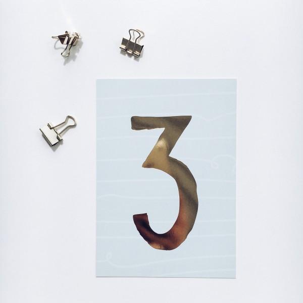 """Postkarte """"3"""""""