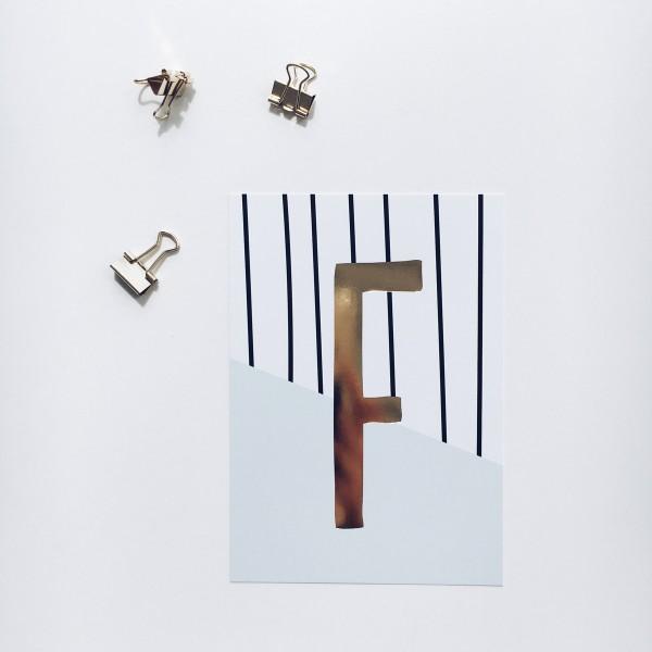 """Postkarte """"F"""""""