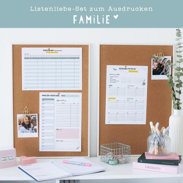 """Listenliebe-Set zum Ausdrucken """"Familie"""""""