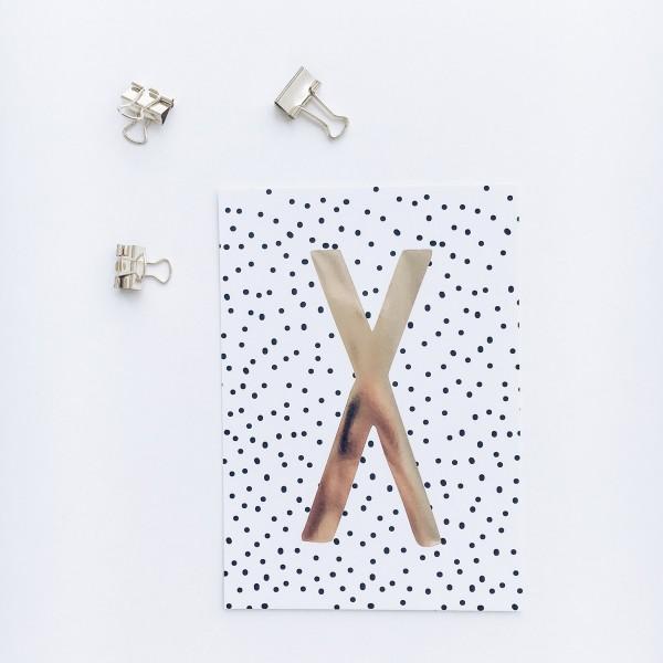 """Postkarte """"X"""""""