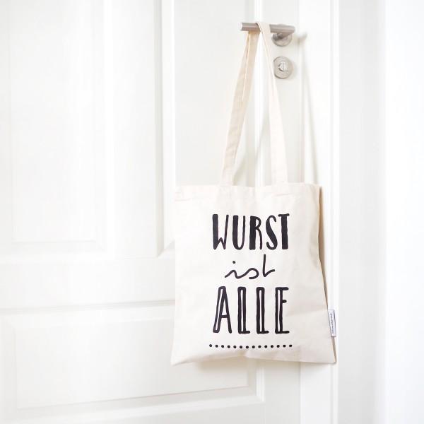 """Jutebeutel """"Wurst ist alle"""""""
