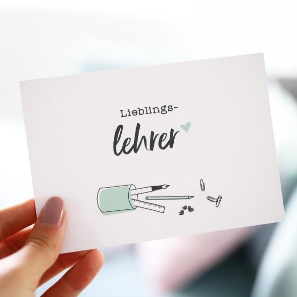 "Postkarte ""Lieblingslehrer"""