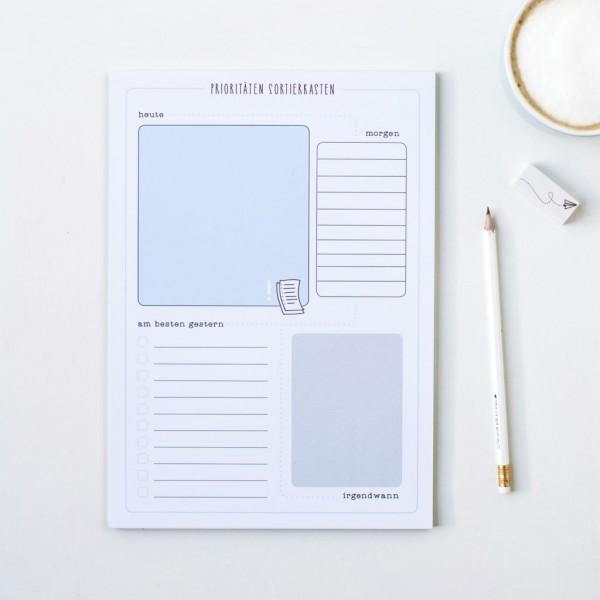 """Schreibtisch Organizer A4 """"Prioritäten Sortierkasten"""""""