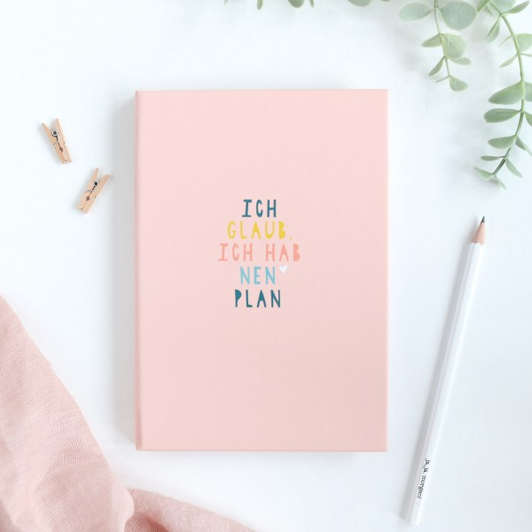 "Sticky Notes Book ""Ich hab nen Plan"", rosa"