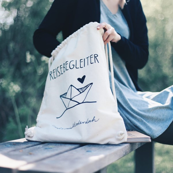 "Turnbeutel Organic Cotton ""Reisebegleiter"""