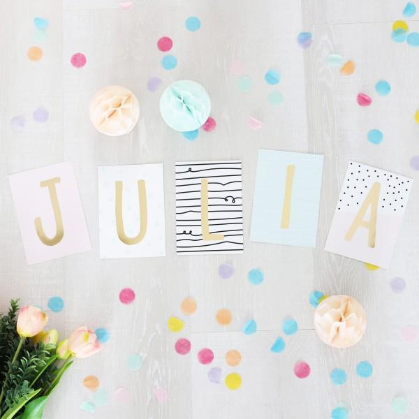"""Glitzer Postkarten Set """"Julia"""""""