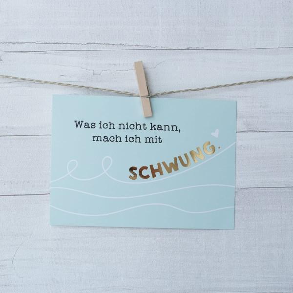 "Postkarte ""Schwung"""