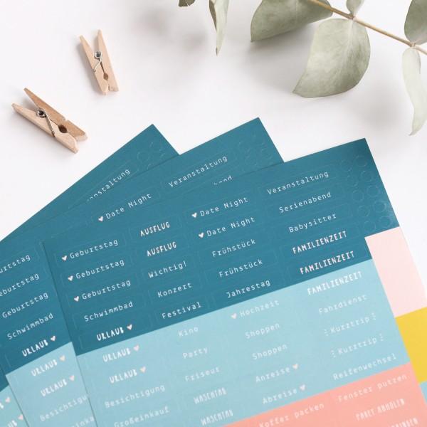 """Sticker für Kalender 3er-Set """"Organisation"""""""