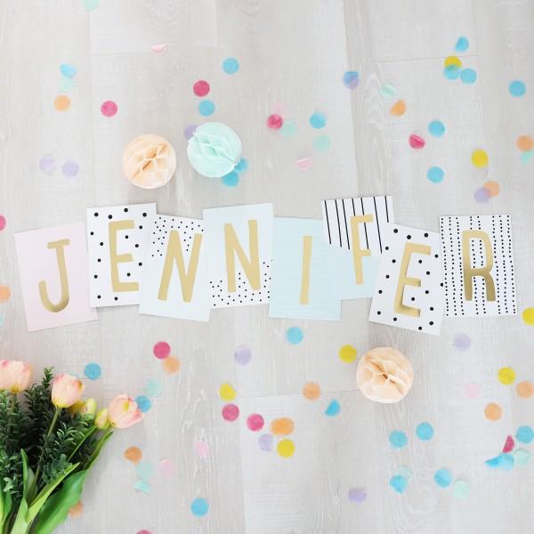 """Glitzer Postkarten Set """"Jennifer"""""""