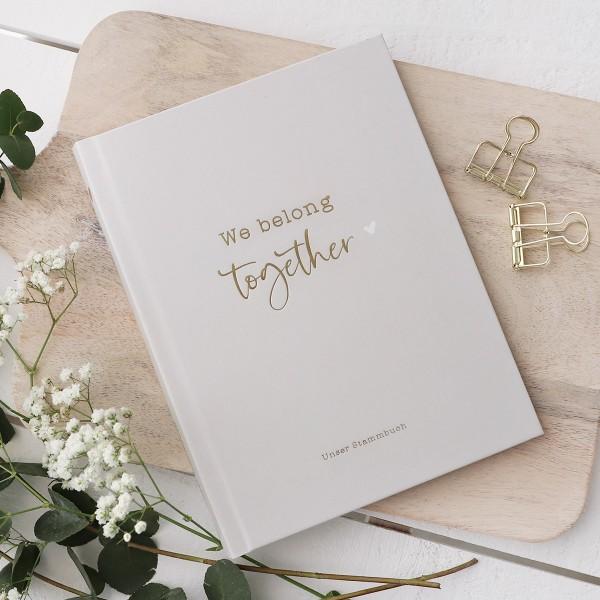 "Familienstammbuch grau ""We belong together"""