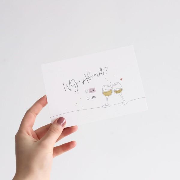 "Postkarte ""WG-Abend"""