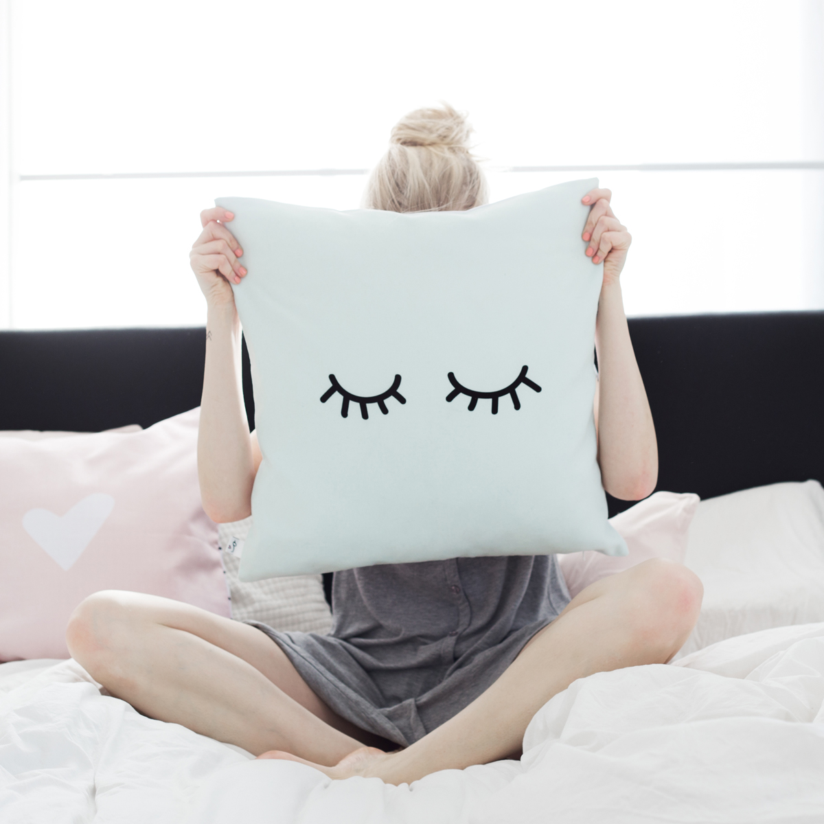kissenh lle 50x50 mint mit punkten. Black Bedroom Furniture Sets. Home Design Ideas