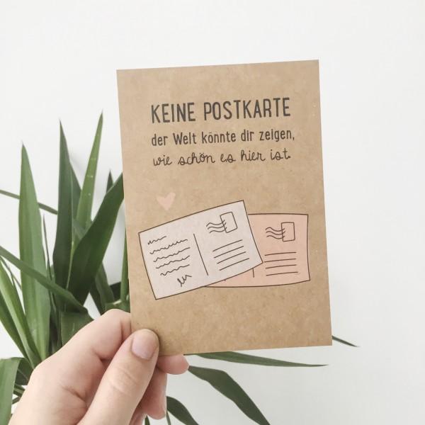 "Postkarte Kraftpapier ""Postkarte"""