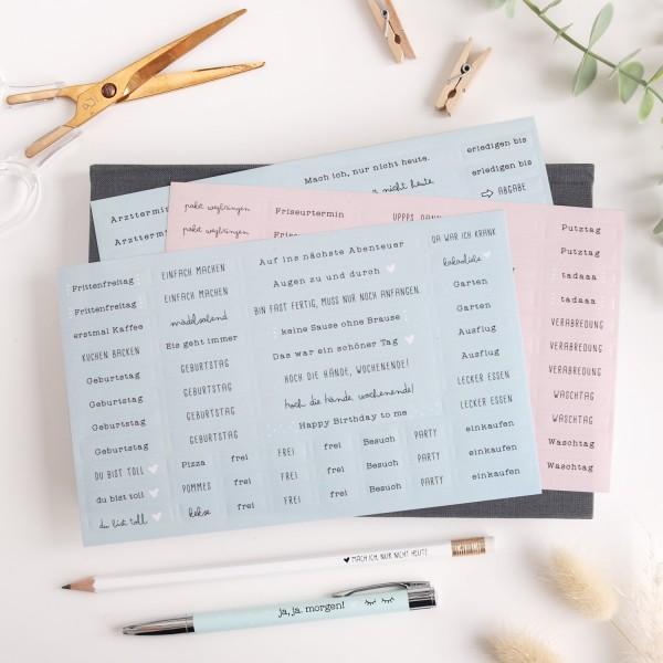 Sticker für A5 Kalender 3er-Set mint