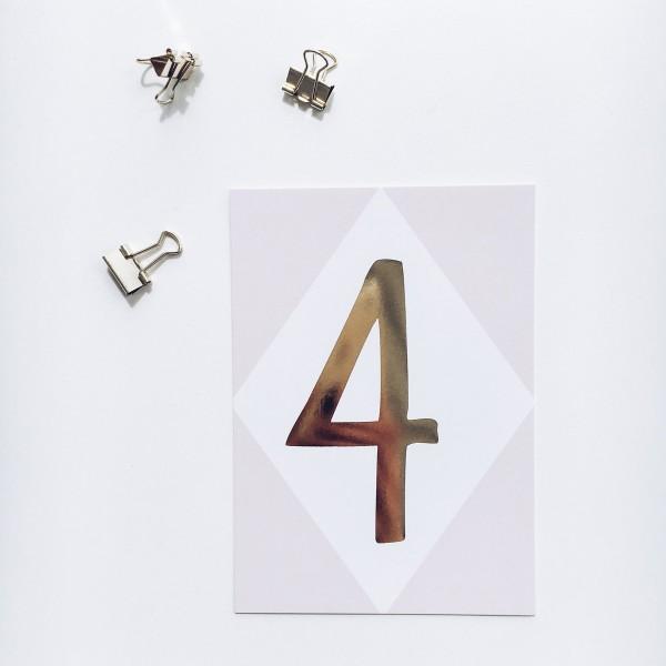 """Postkarte """"4"""""""
