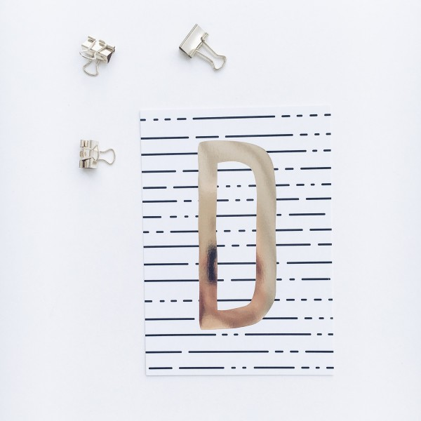 """Postkarte """"D"""""""