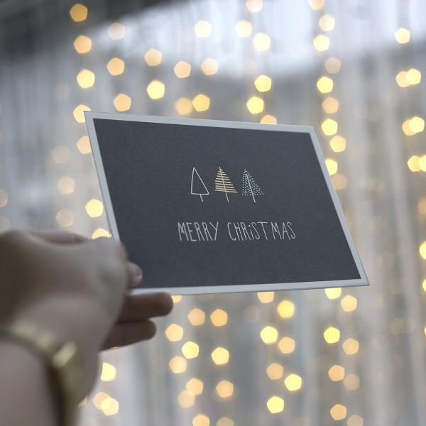 "Postkarte ""Merry christmas"" mit Umschlag"
