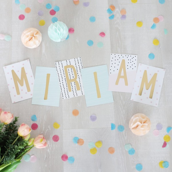 """Glitzer Postkarten Set """"Miriam"""""""