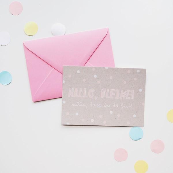 Hallo, Kleine! - Postkarte mit Umschlag