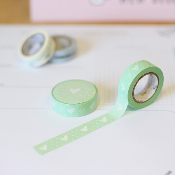 "Washi Tape ""Herz mint"""