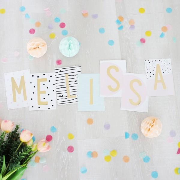 """Glitzer Postkarten Set """"Melissa"""""""